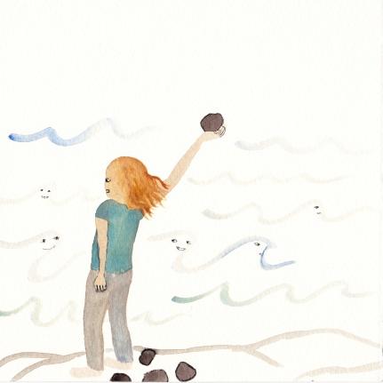 Watercolor, 21*21cm,2011